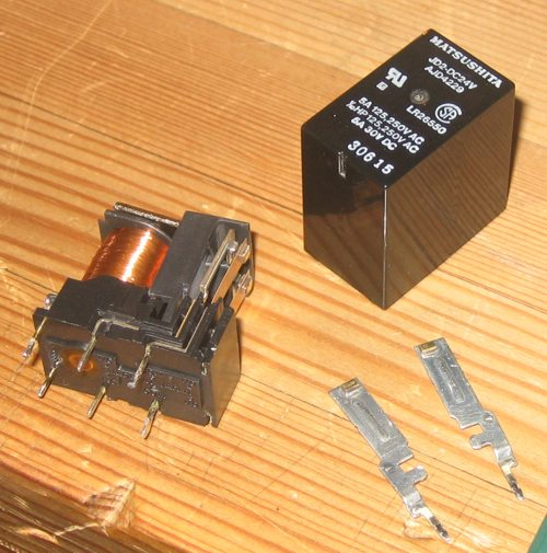 NAD 2150 protection relay disassembled