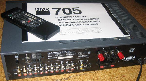 NAD 705 reciever behind