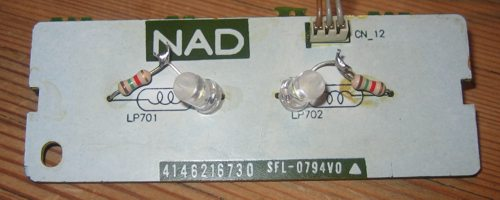 NAD 705 display light repaired white leds