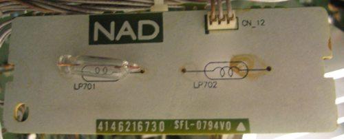 NAD 705 defect display light bulbs
