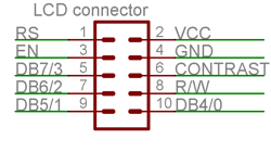 HD44780 compatible lcd connector pinout