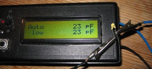AVR capmeter measuring ceramic