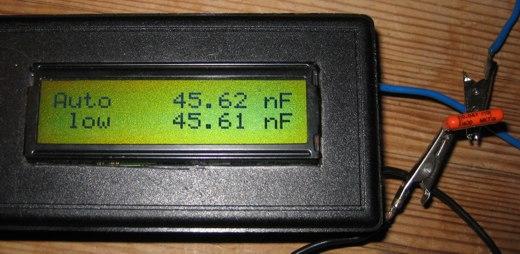 AVR capmeter measuring capacitor