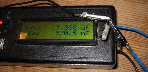 AVR capmeter measuring bad electrolyte
