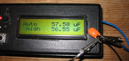 AVR capmeter measuring tantal