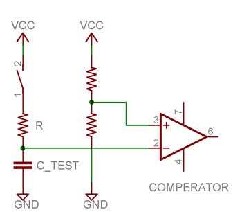 measuring capacitance rc network principle