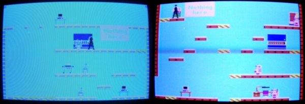 Fixed C64 DTV PAL image before after