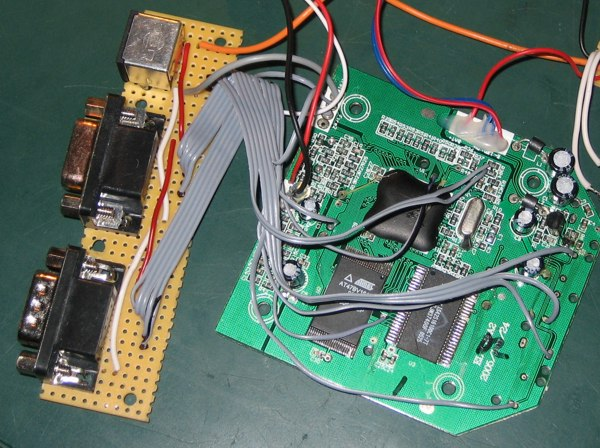 DTV connected to connector board