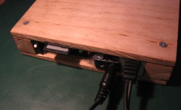 Finished wooden DTV back