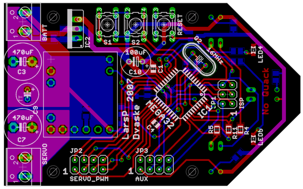 SickSack controller board layout