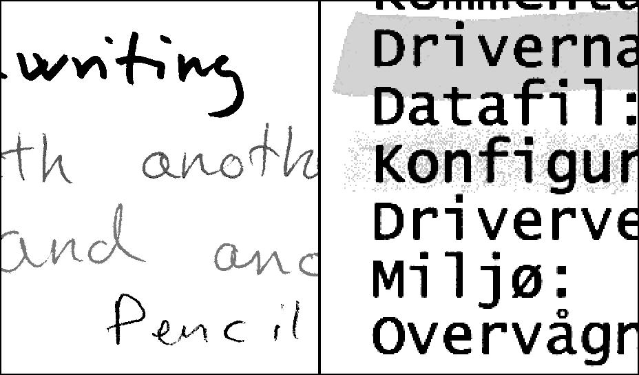 Script grayscale PDF sample